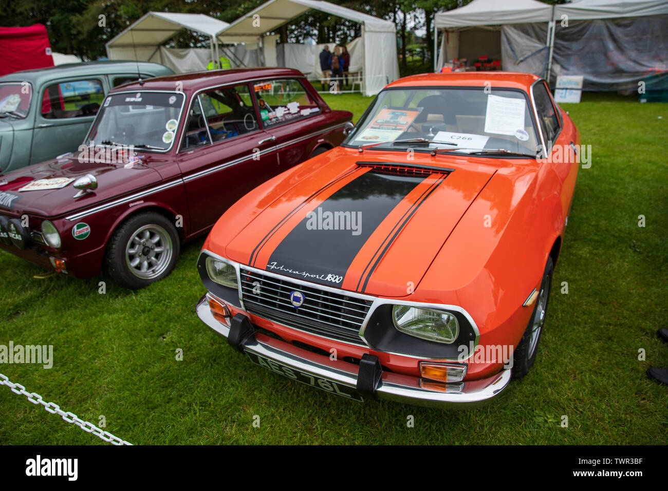 AES 76L, Lancia Fulvia Sport 1600, 1973 at The Bath Festival of Motoring 2019 - Stock Image