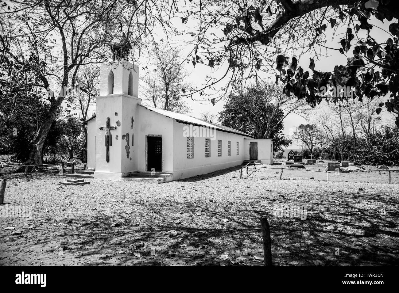 An old church in Nkhota-Kota, Malawi - Stock Image