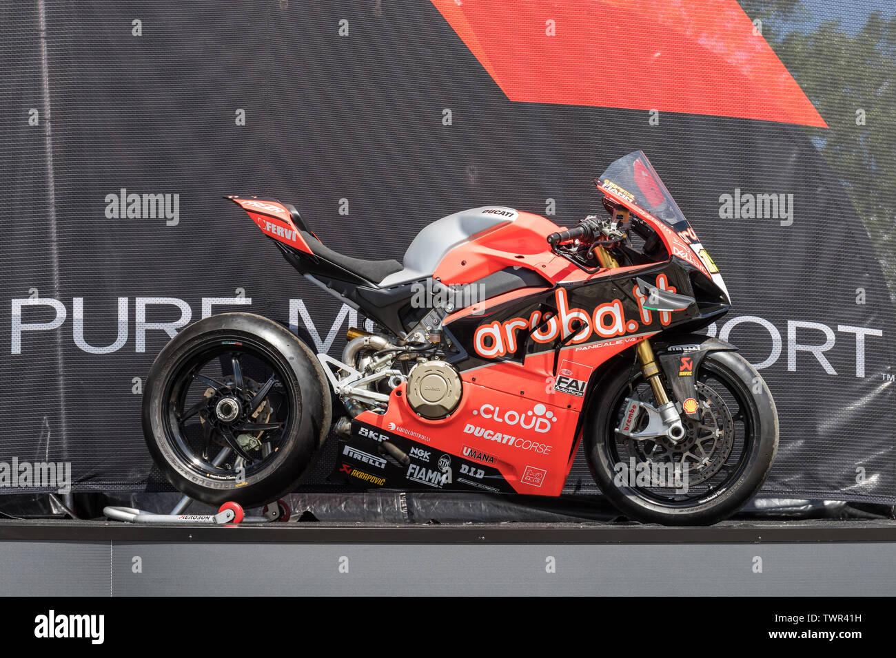Ducati Panigale V4 R of Alvaro Bautista, Aruba.it Racing - Ducati team Stock Photo