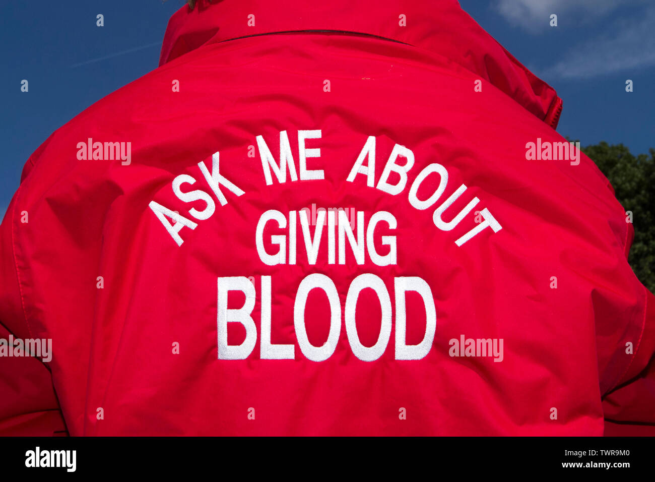 NHS blood donor donation saves lives - Stock Image