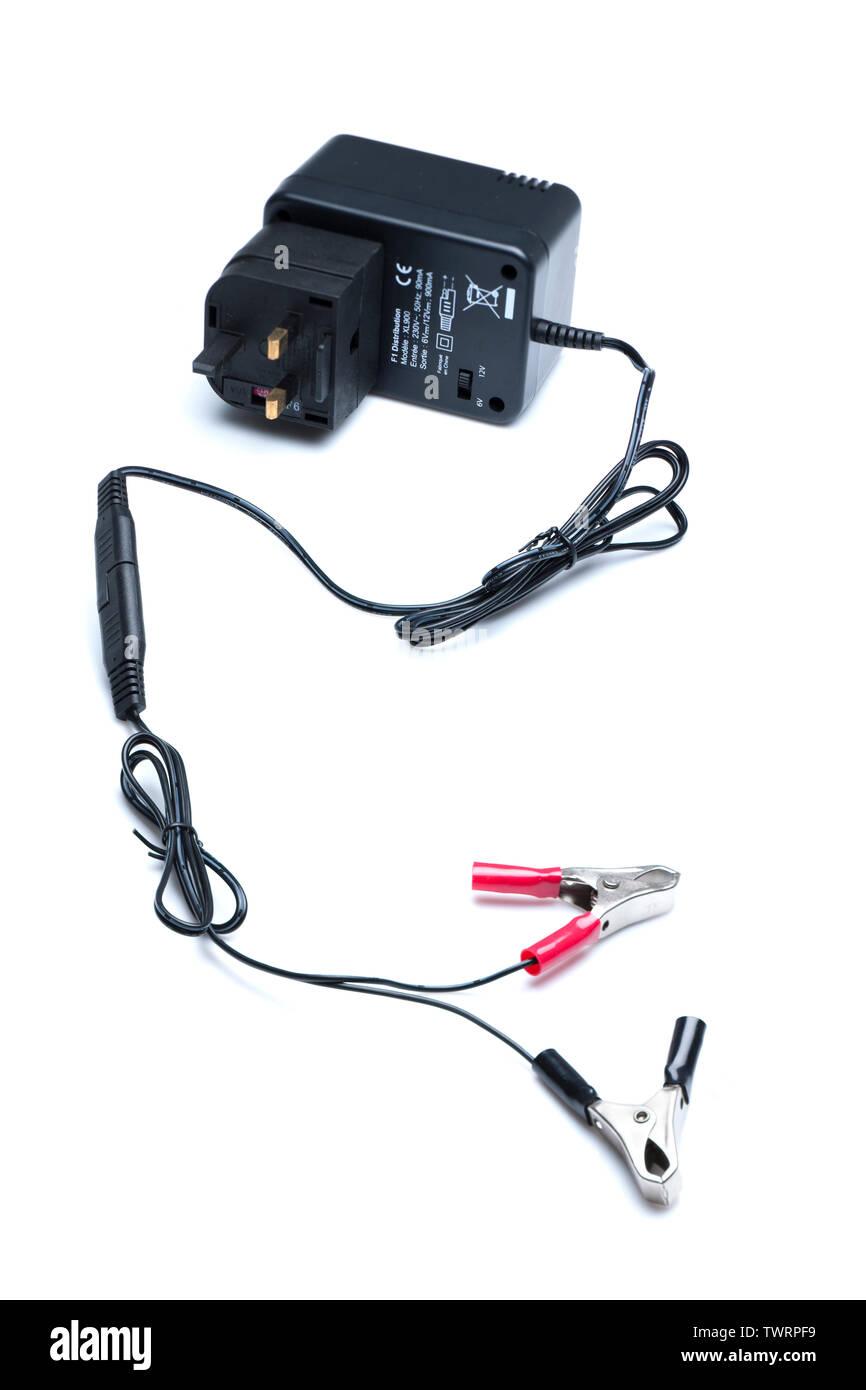 Excel 6 volt and 12 volt trickle charger - Stock Image