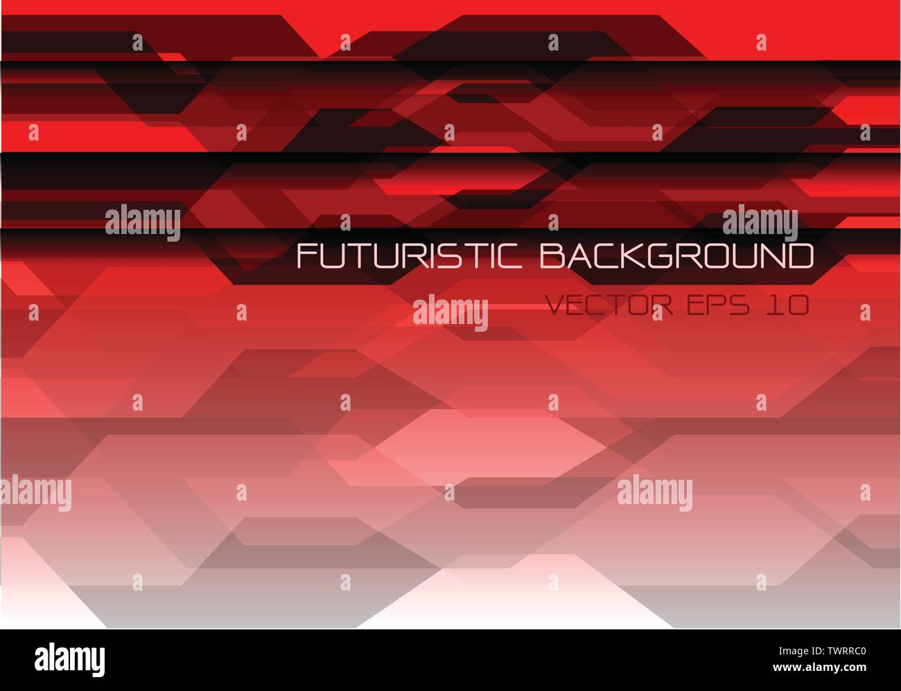 Abstract gray polygon on red design modern futuristic technology background vector illustration. Stock Vector