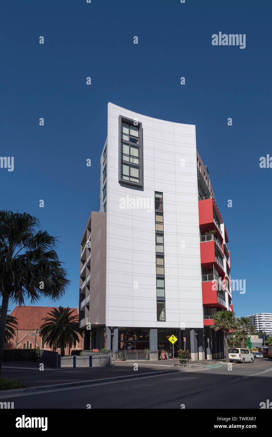 A high rise apartment building in the Sydney suburb of Wolli Creek, Australia - Stock Image