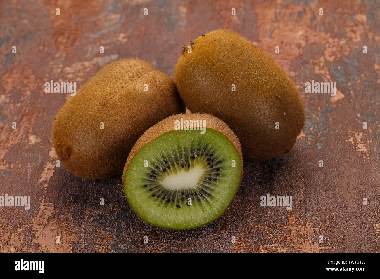 Fresh ripe juicy kiwi fruit - Stock Image