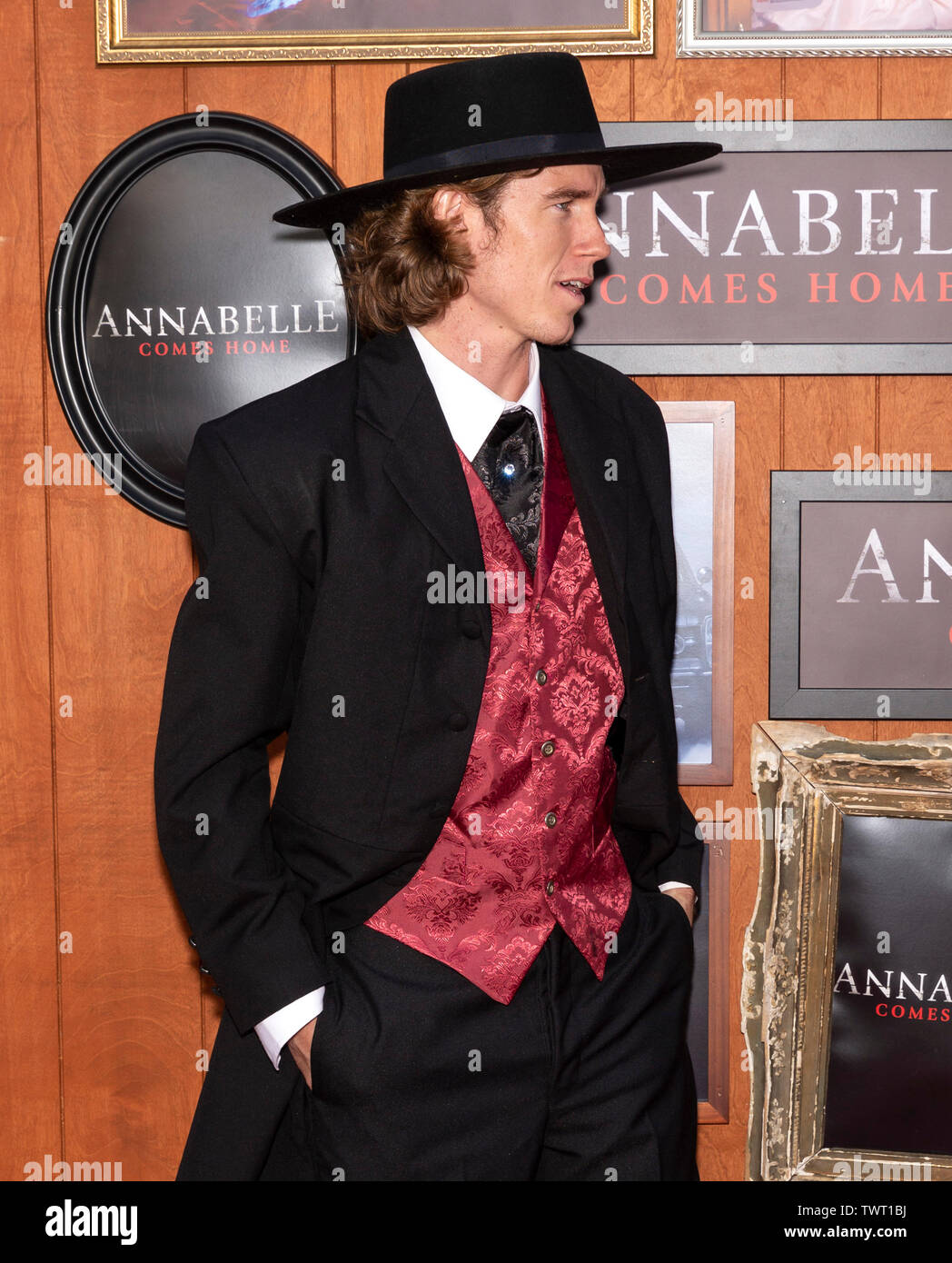 """Westwood, CA - June 20, 2019: Danny Duncan attends the Premiere Of Warner Bros' """"Annabelle Comes Home"""" held at Regency Village Theatre Stock Photo"""
