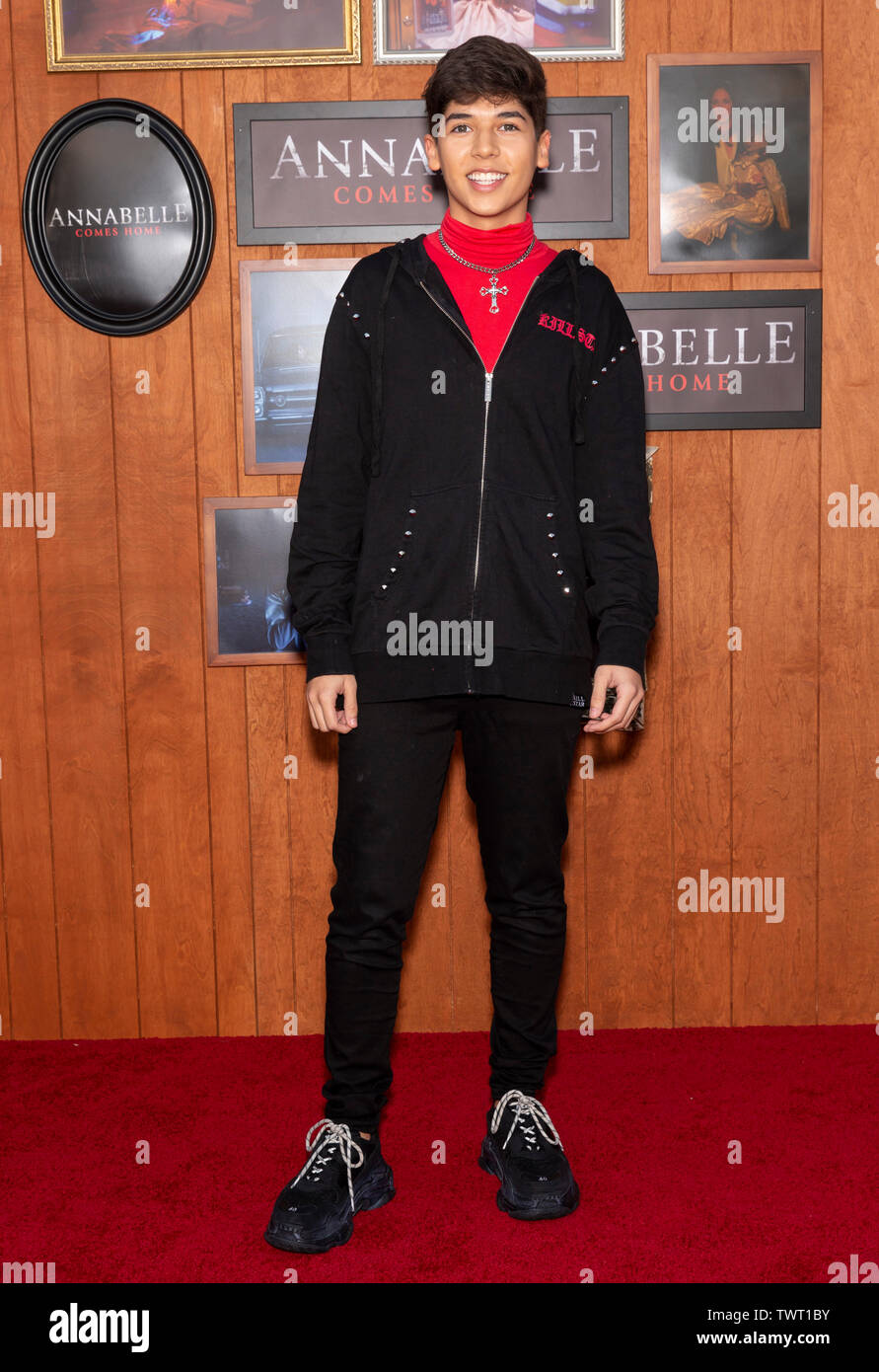 """Westwood, CA - June 20, 2019: Mario Selman attends the Premiere Of Warner Bros' """"Annabelle Comes Home"""" held at Regency Village Theatre Stock Photo"""