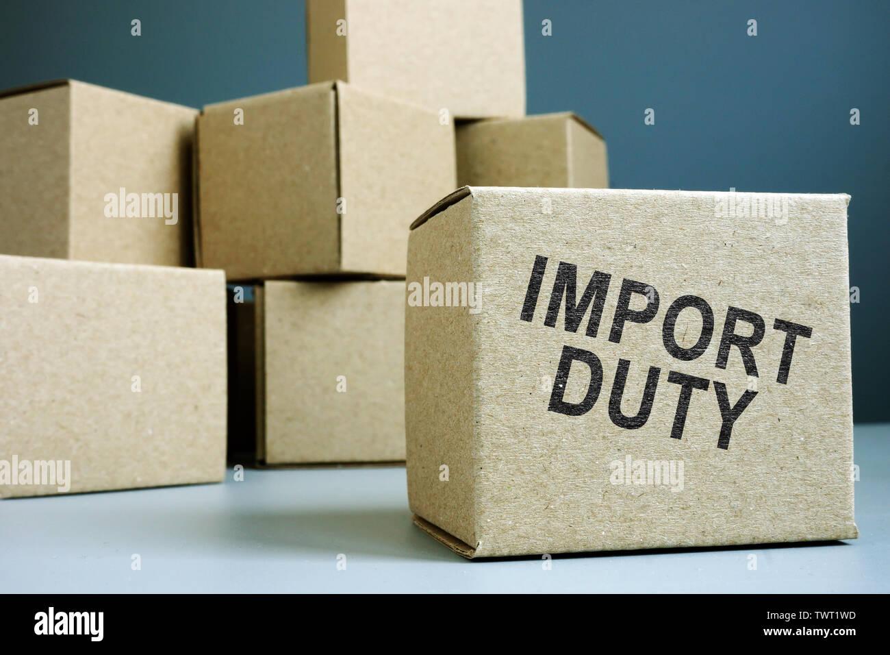 Customs Declaration Form Stock Photos & Customs Declaration