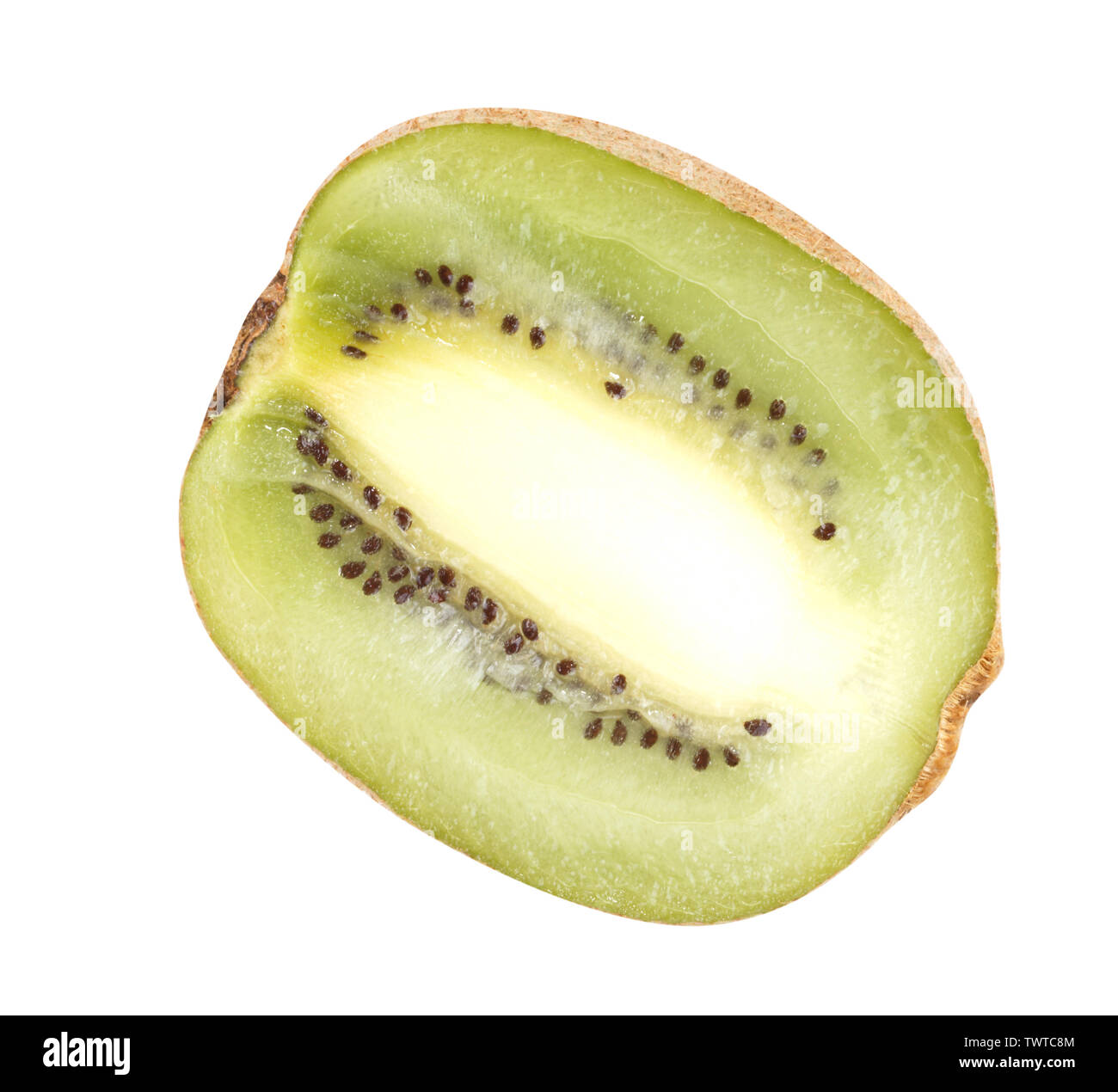 raw kiwi isolated on white - Stock Image
