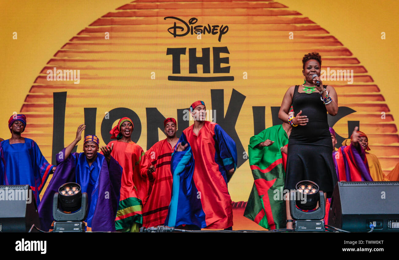 London Uk 23rd June 2019 West End Live The Musicals In Trafalgar Square The Cast Of