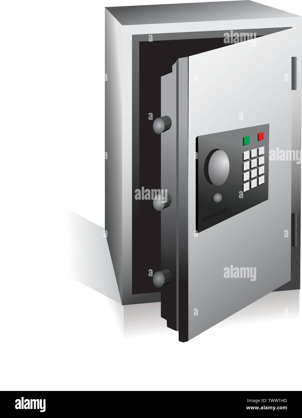 safe money code number type lock alarm break fortune gold - Stock Image