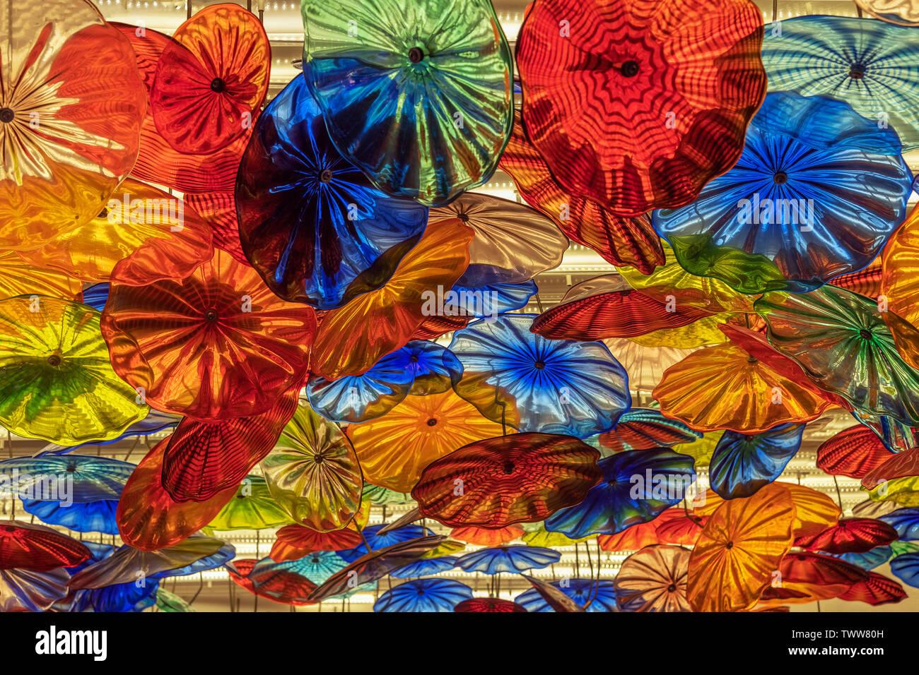 Regenschirm-Leuchten Stock Photo