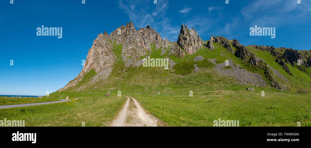 Bleik, Andenes, Vesteralen, Andoya, Norway. - Stock Image