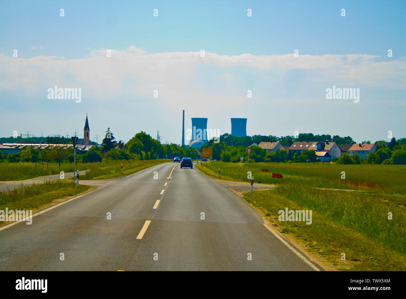 The nuclear power plant in Bavaria - Stock Image