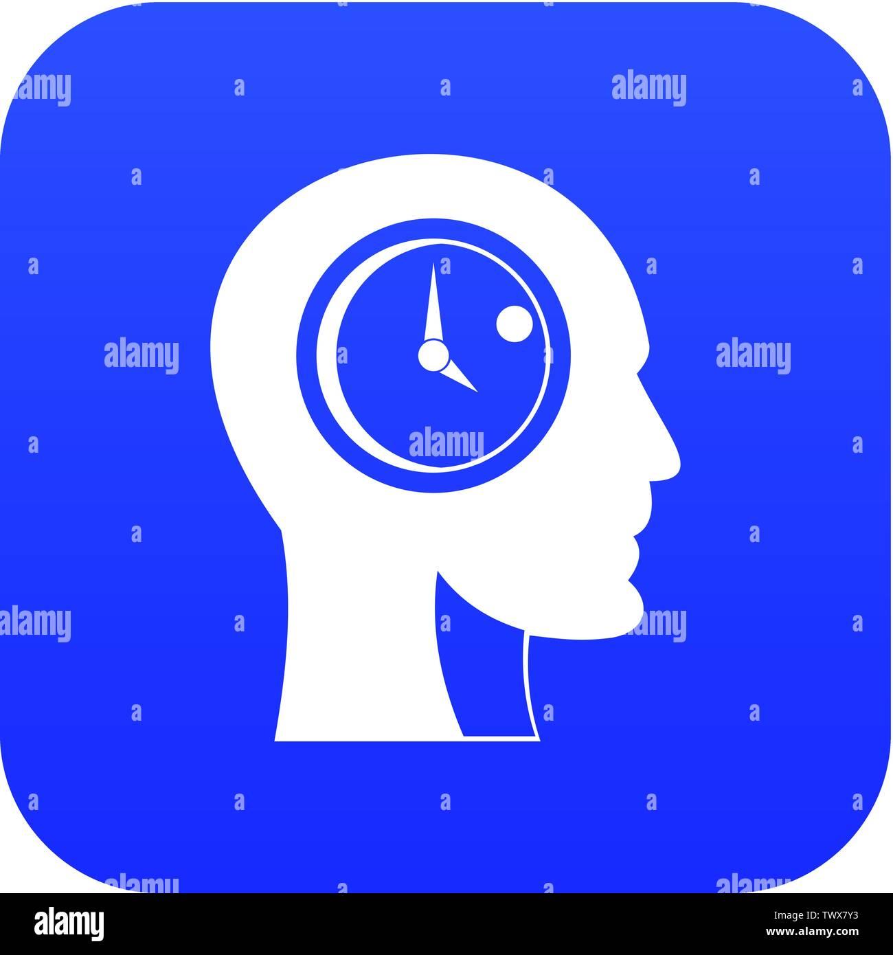 Time management icon digital blue - Stock Image