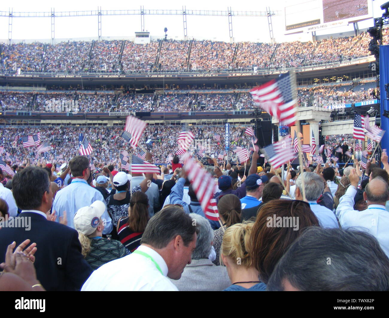 'English: inside invesco field during 2008 dnc; August 2008; Own work (Original text:  I created this work entirely by myself.); «Marylandstater» «reply»; ' - Stock Image