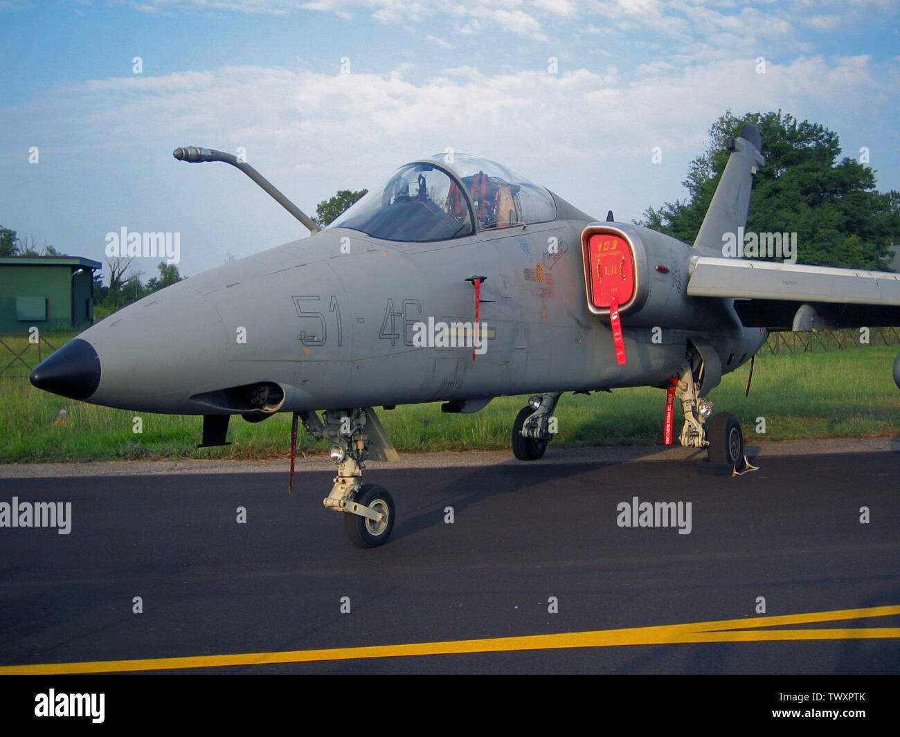 'Alenia Aermacchi Embraer AMX of 51° Stormo of Italian Air Force; 24 July 2006 (original upload date); Transferred from en.wikipedia to Commons.; Lorenzo Tomasi -; ' - Stock Image