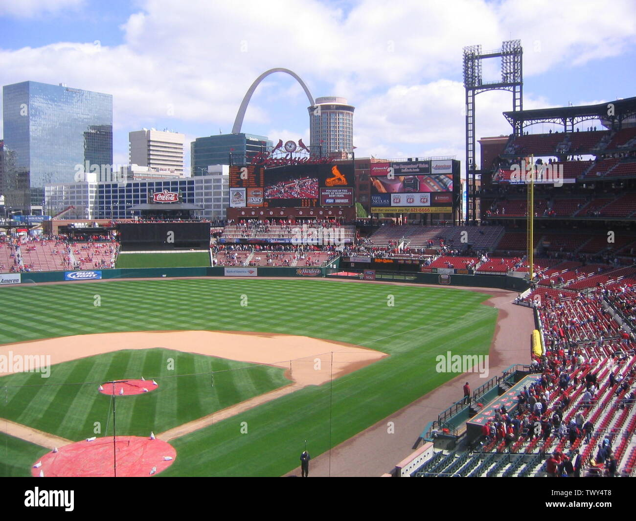 'Image take at Busch Stadium Open House, April 8th 2006  16:03, 28 April 2006 . . Mdglazerman . . 2048×1536 (1,175,011 bytes); Commons upload by Soxrock 11:08, 19 August 2007 (UTC); From en.wikipedia; description page is (was) here; User Mdglazerman on en.wikipedia; ' - Stock Image