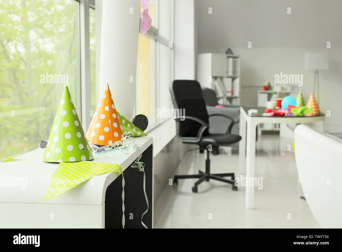 Interior of office after party - Stock Image