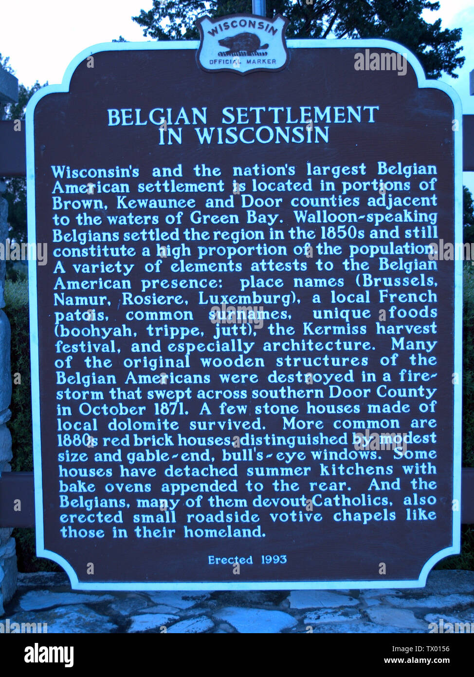 'English: Historical Marker; 2 July 2008; Own work (Original text:  I created this work entirely by myself.); William Isaac Harter; ' - Stock Image