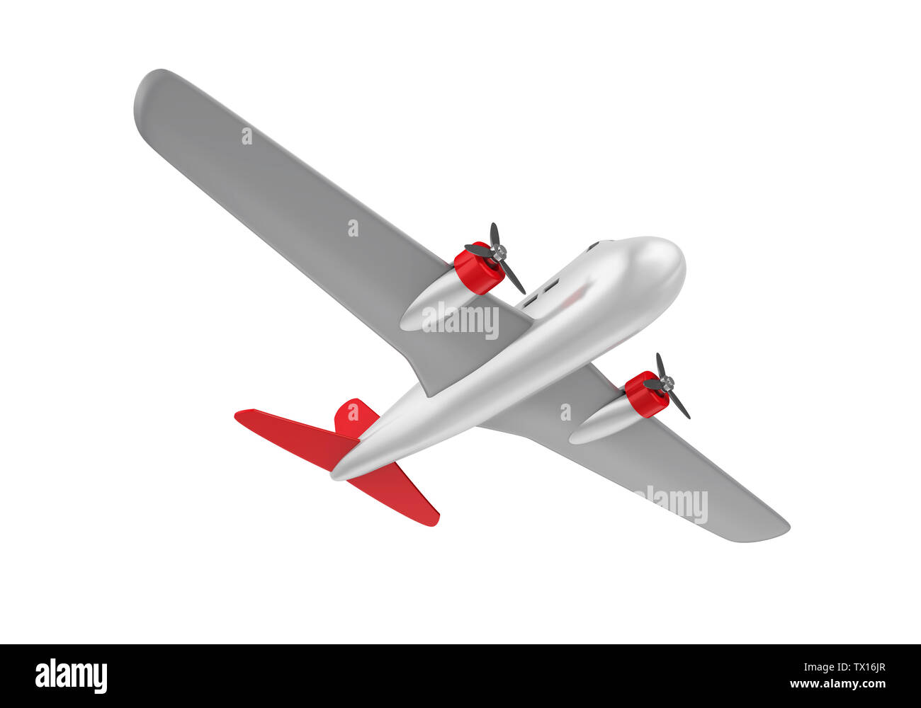 Airplane Toy Isolated - Stock Image