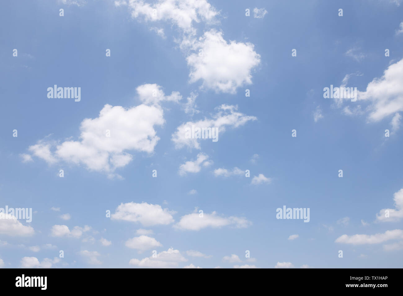 clear, blue sky and white cloud float in the air - Stock Image