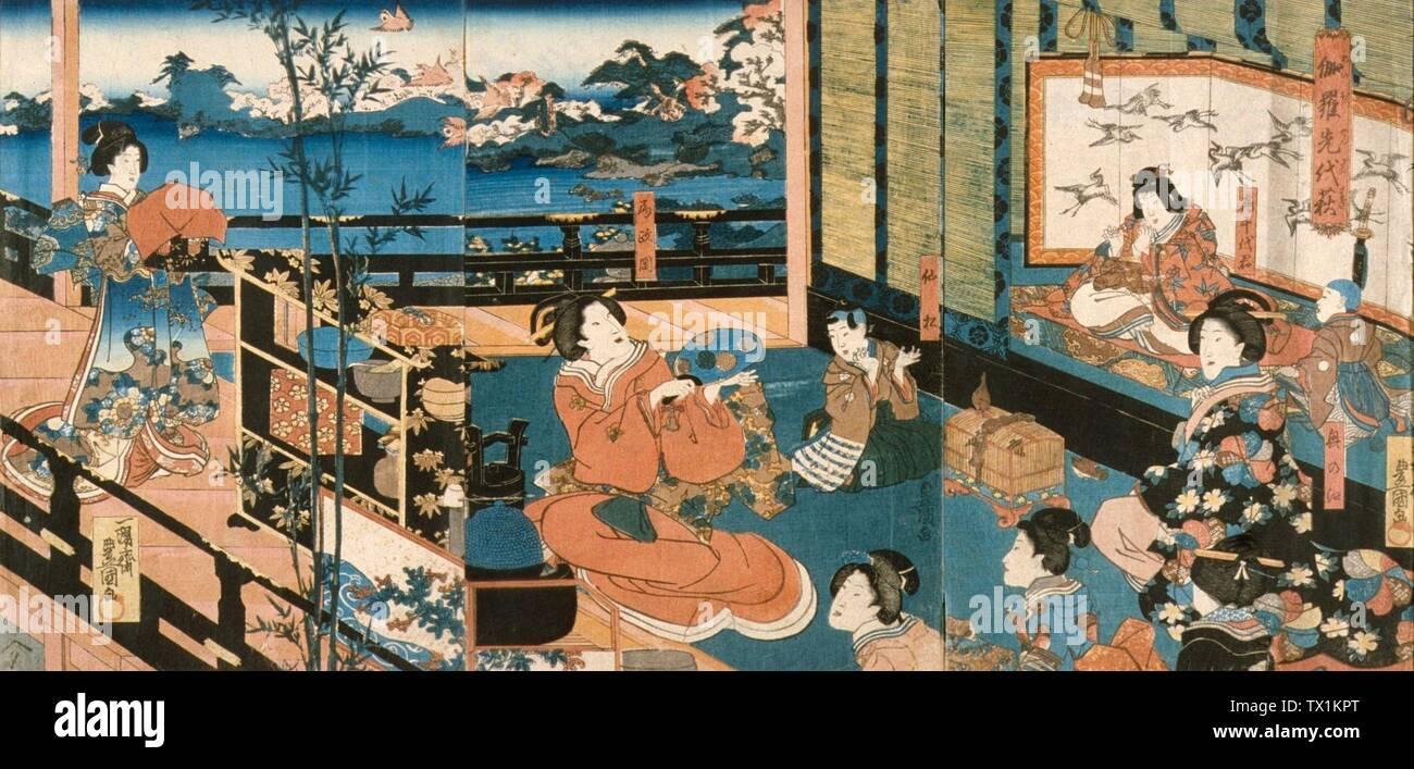Japanese Courtesans Stock Photos & Japanese Courtesans Stock Images
