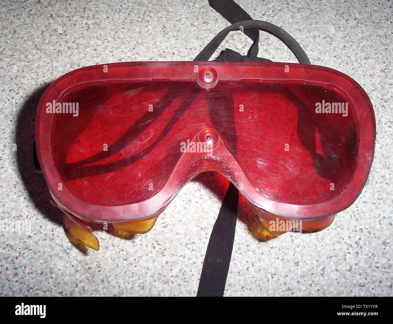 'These are used at night prior to going outside to adapt the eyes to the dark. Picture taken at Cambridge Bay, Nunavut, Canada.; 3 August 2005; Own work; CambridgeBayWeather; ' - Stock Image