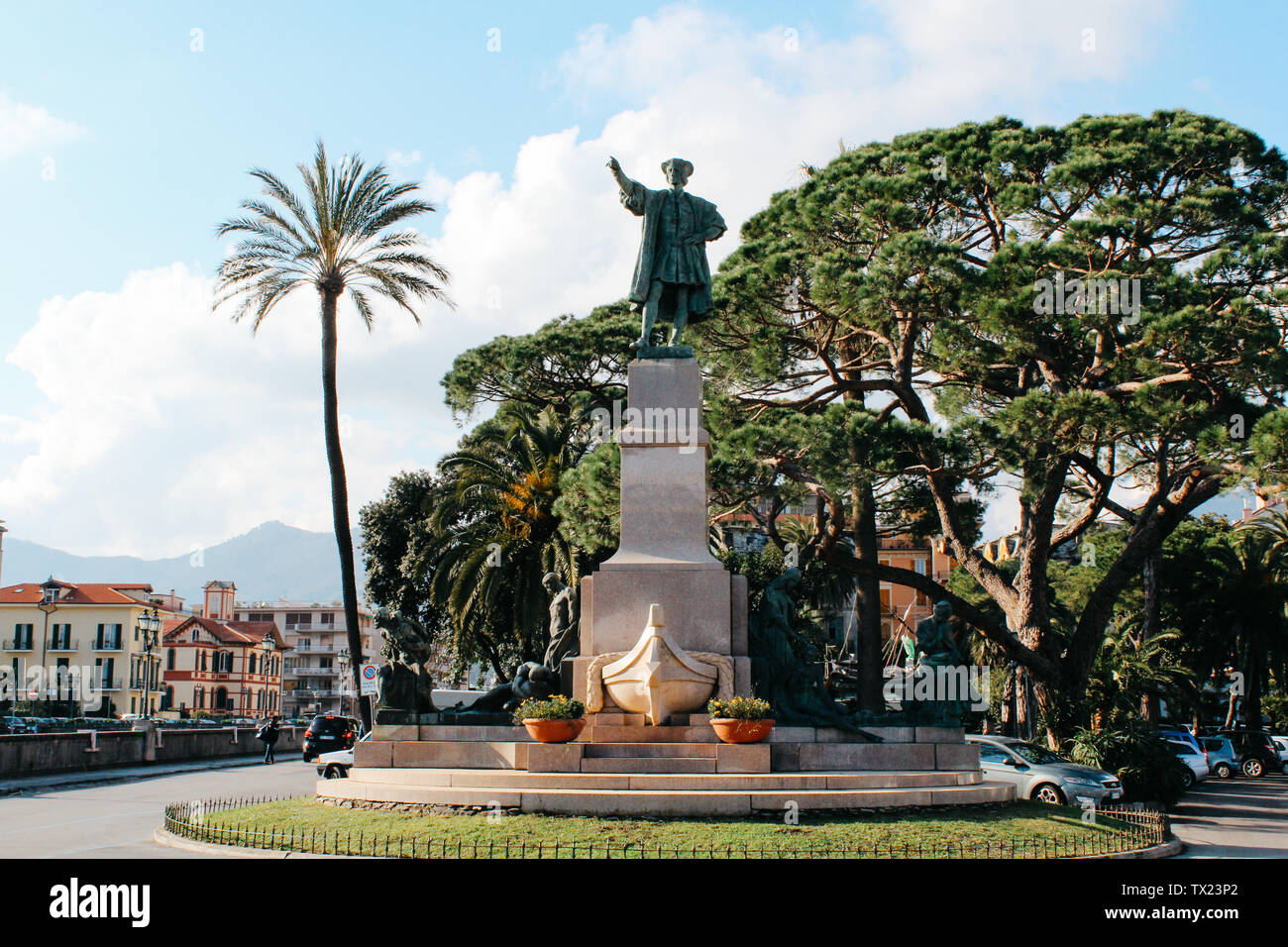 Rapallo, Italy - 03 27 2013: landmarks, View of the streets of Rapallo - Stock Image