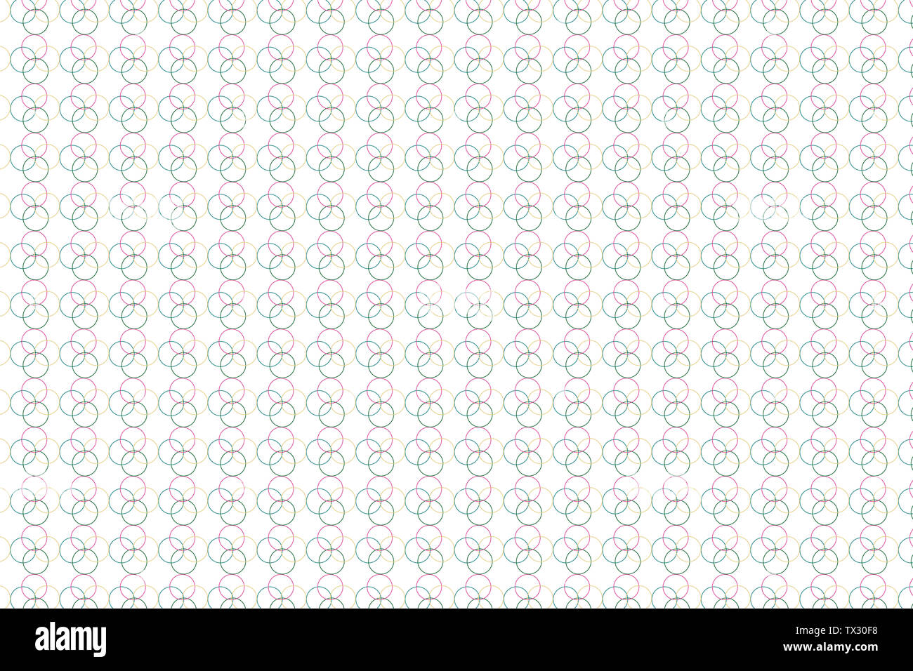 Circle texture illustration, abstract circle on white background, - Stock Image