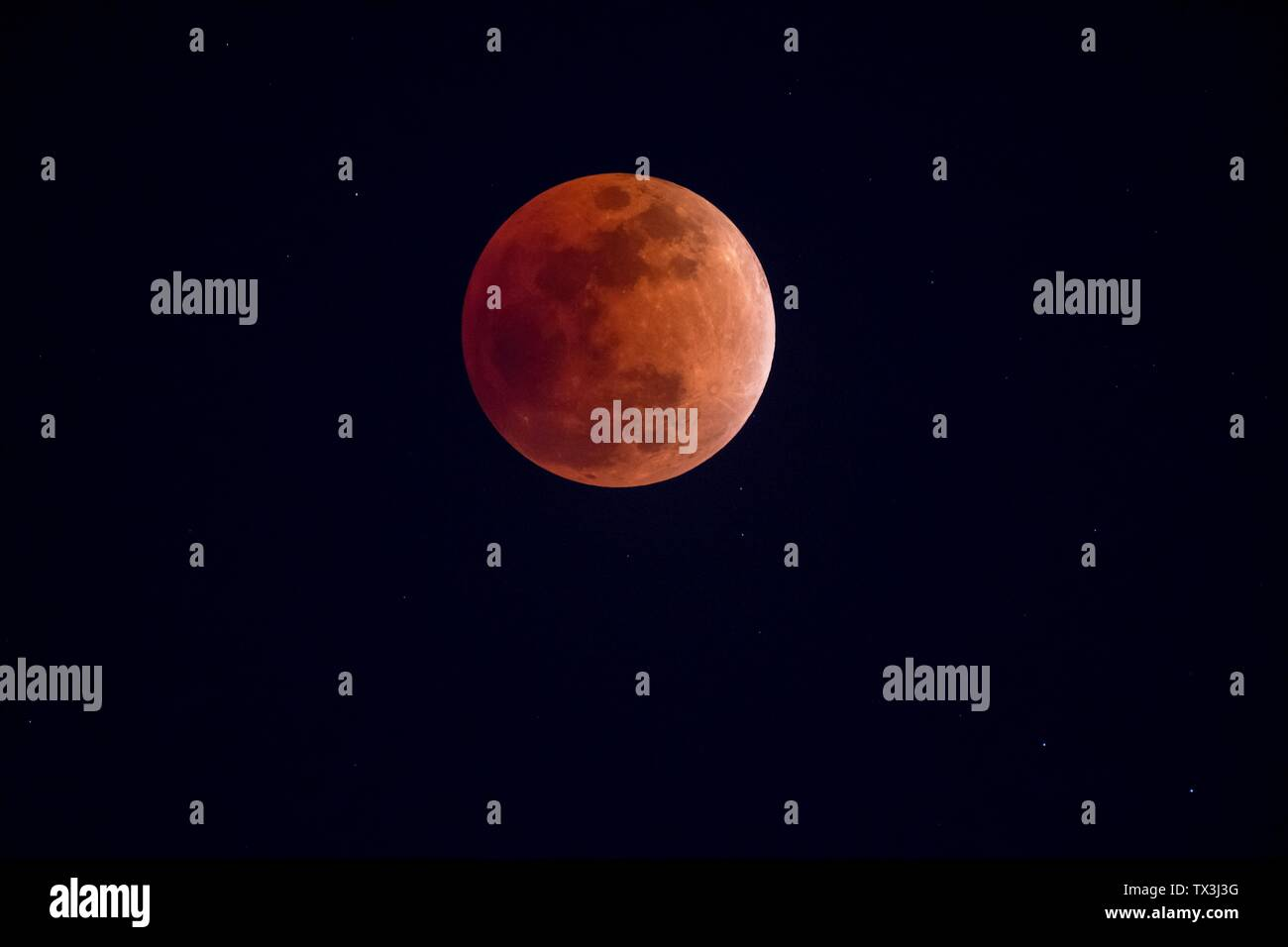 Sky Night Stars Moon Lunar Partial Eclipse Creative