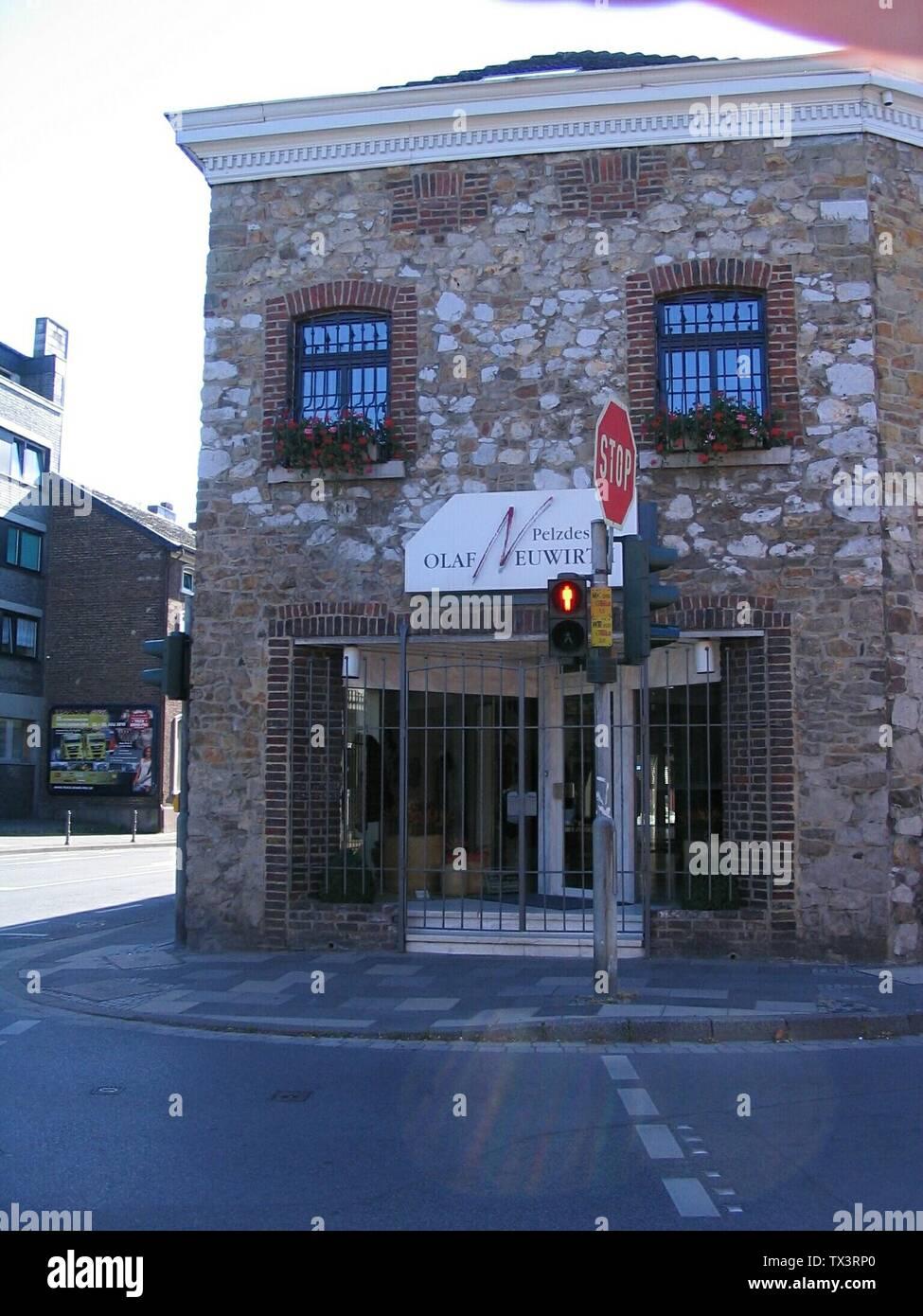 Von-Coels-Straße 151 (denkmalgeschütztes Gebäude), Ecke Steinstraße, 52080 Aachen-Eilendorf Pelzdesign Olaf Neuwirth, Kürschnermeister Olaf Neuwirth und Christine Neuwirth; 18 July 2010; Own work; Kürschner (talk) 12:55, 19 July 2010 (UTC); Stock Photo