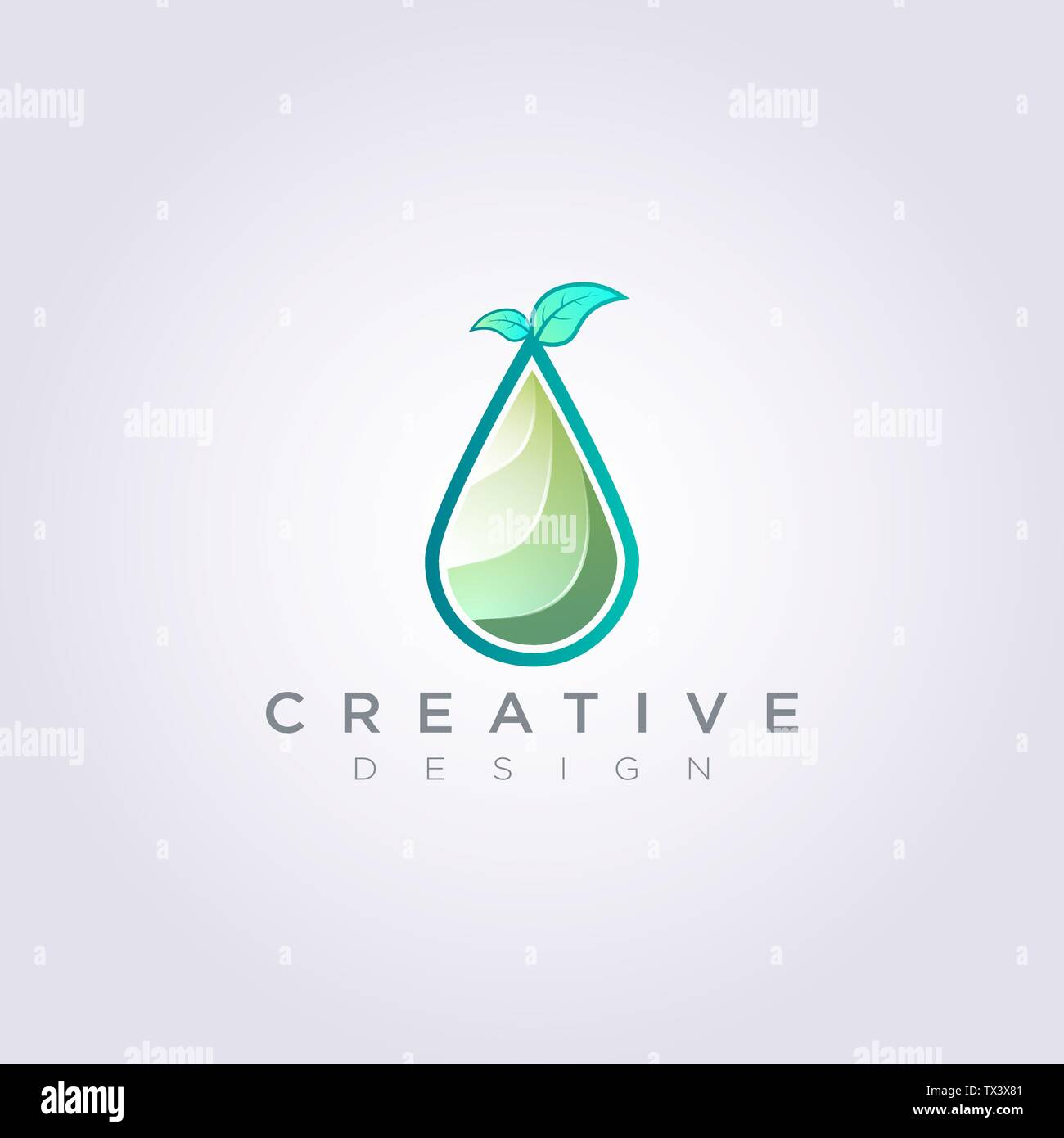 Water Granules With Leaves On Top Vector Illustration Design