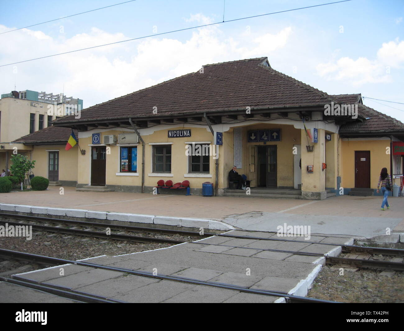 Iasi , Nicolina railway station , Iaşi , Romania Română: Iaşi , Gara Nicolina  , Iaşi , România; 6 May 2009 (original upload date); Transferred from ro.pedia; transferred to Commons by User:Argenna using CommonsHelper.; Cezar Suceveanu , original uploader was Cezarika1 at ro.pedia; Stock Photo