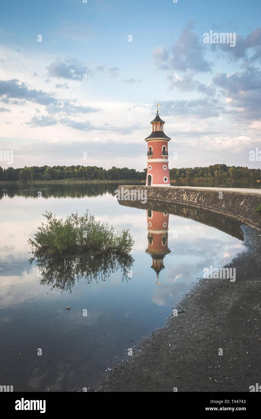 Germany, Saxony, Moritzburg Castle in the evening Stock Photo