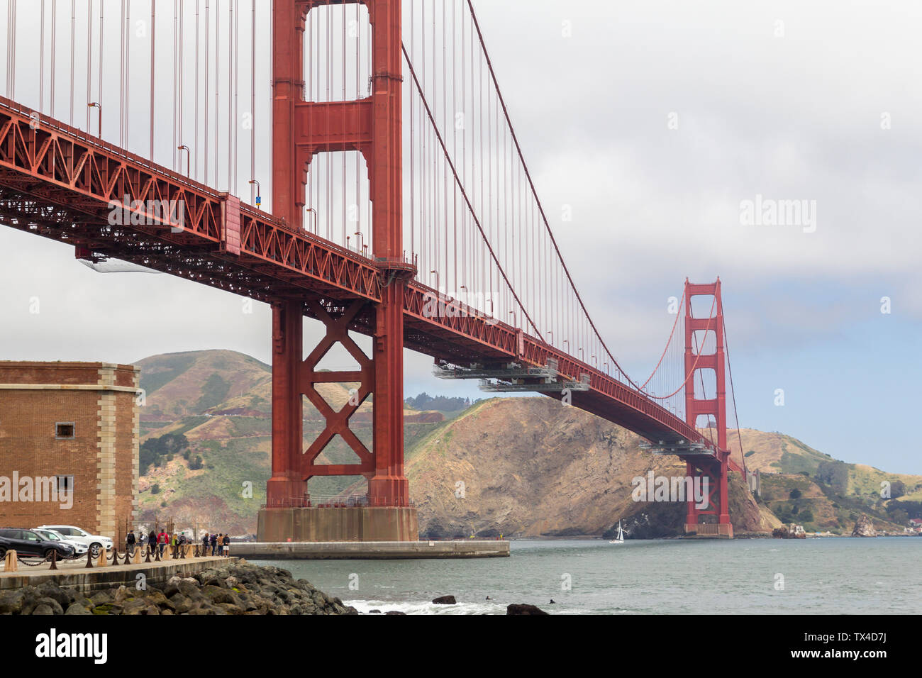 The Golden Gate bridge in San Francisco bay, United States Stock Photo