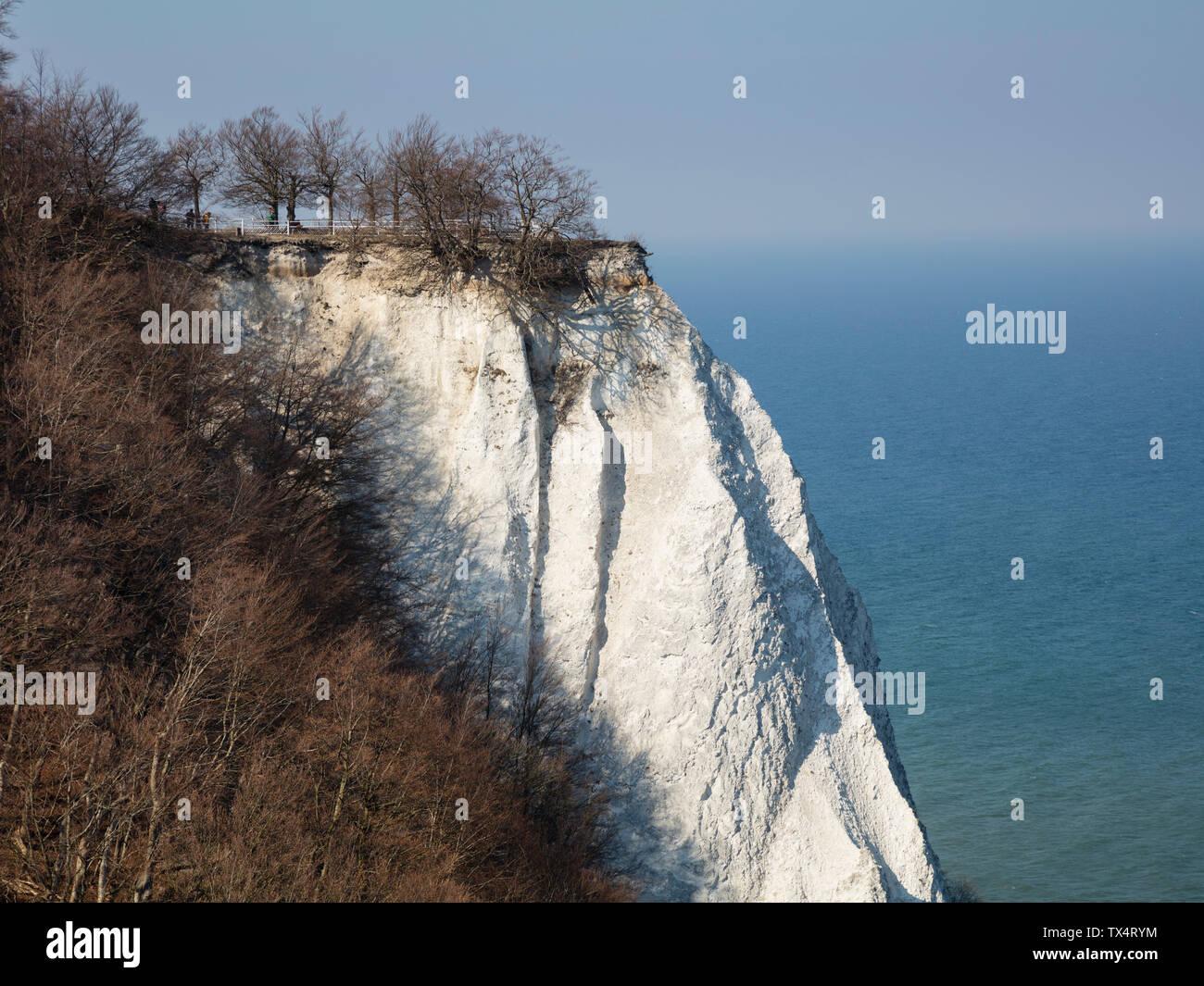 Germany, Mecklenburg-Western Pomerania, Ruegen, Jasmund National Park, Chalk Cliff Koenigsstuhl Stock Photo