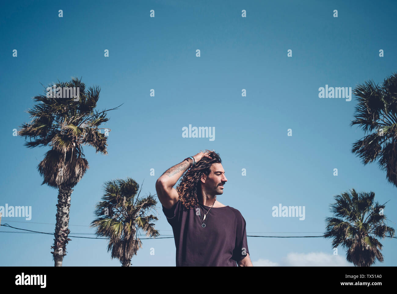 Palm Trees Tattoo High Resolution Stock Photography And