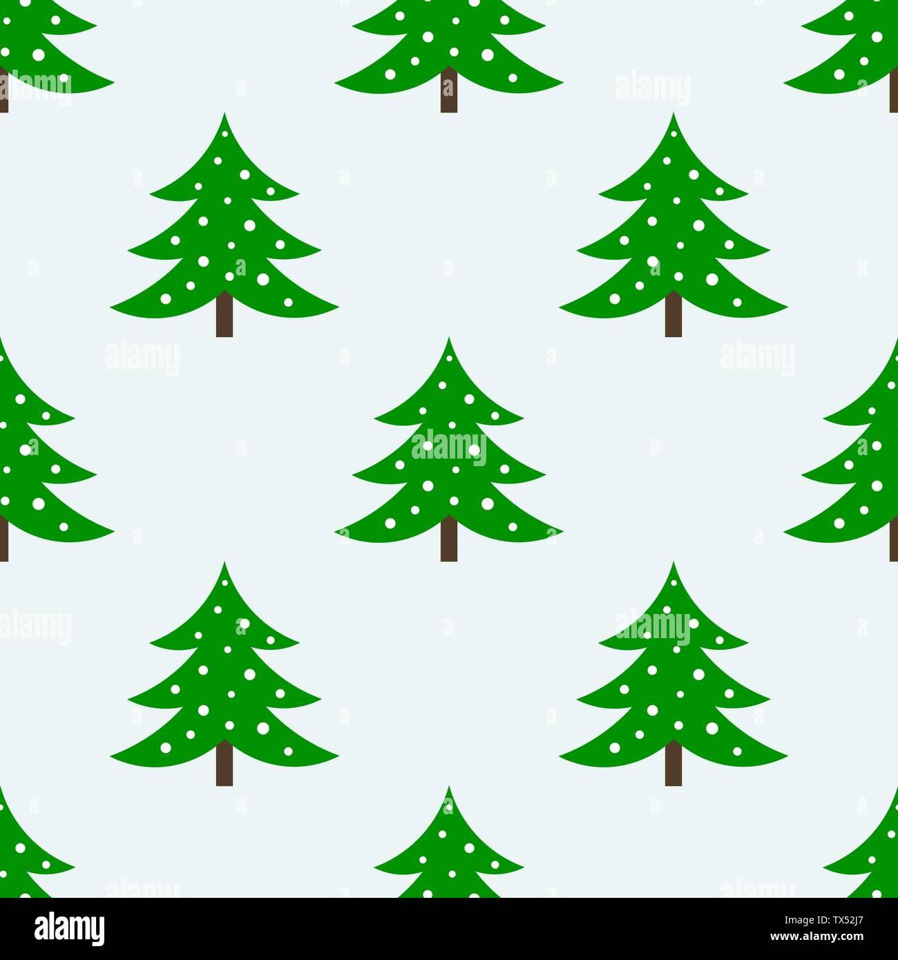 Christmas trees seamless pattern - Stock Image
