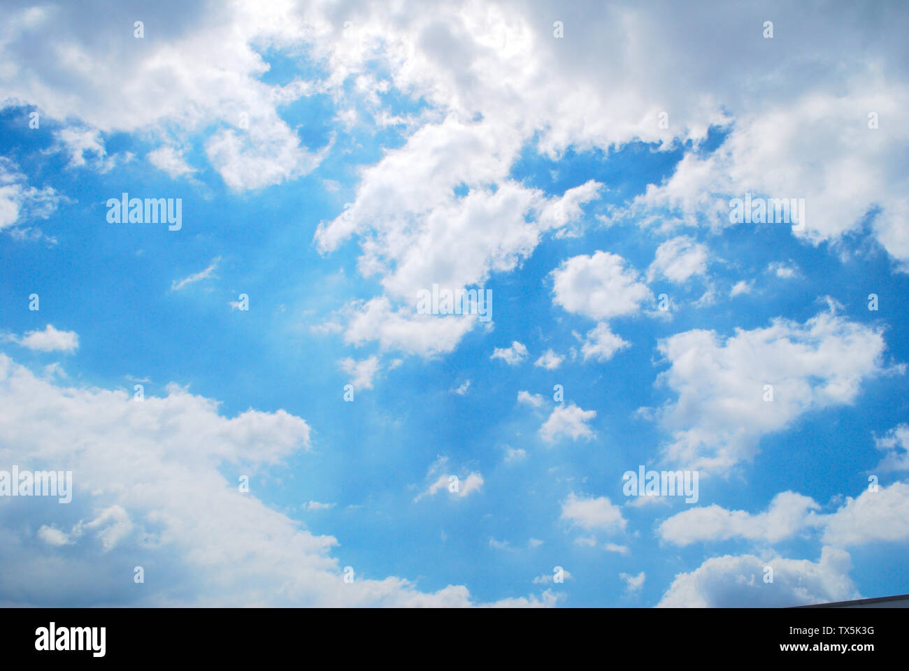 The sky and the clouds of bright colors on the open sky - Stock Image