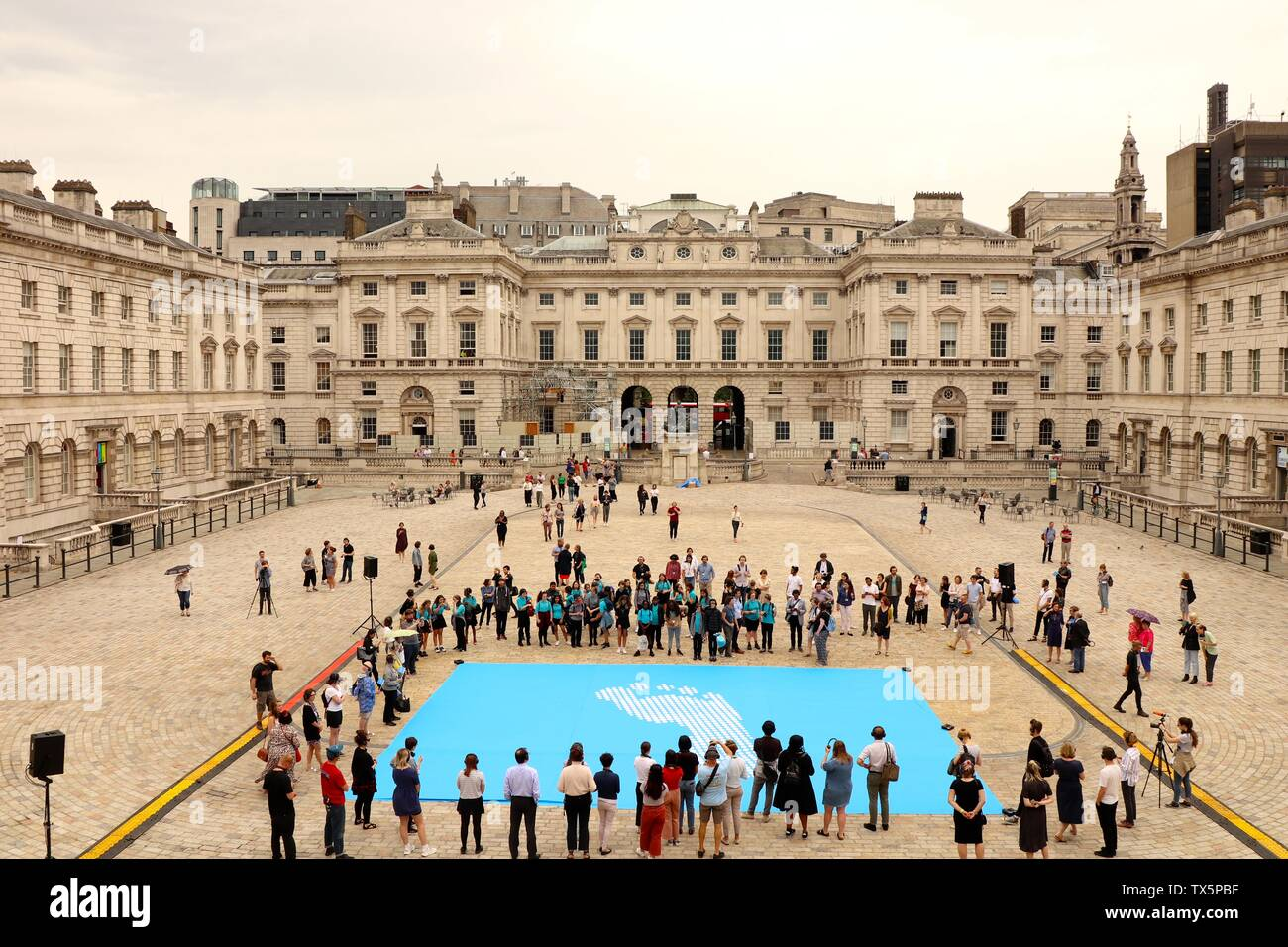 Fly The Flag For Human Rights At Somerset House 24 June 2019 - Stock Image