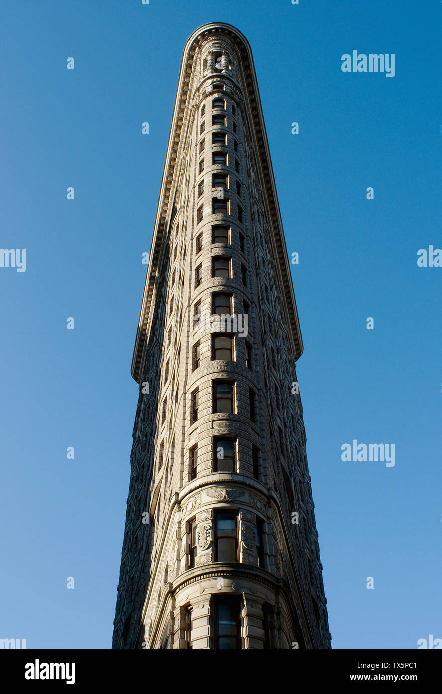 The Flatiron Building in New York City. - Stock Image