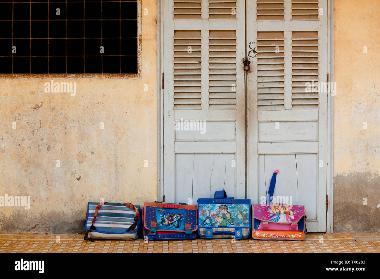 Asian elementary school children in South Vietnam,, Ho Chi Minh City aka Saigon - Stock Image