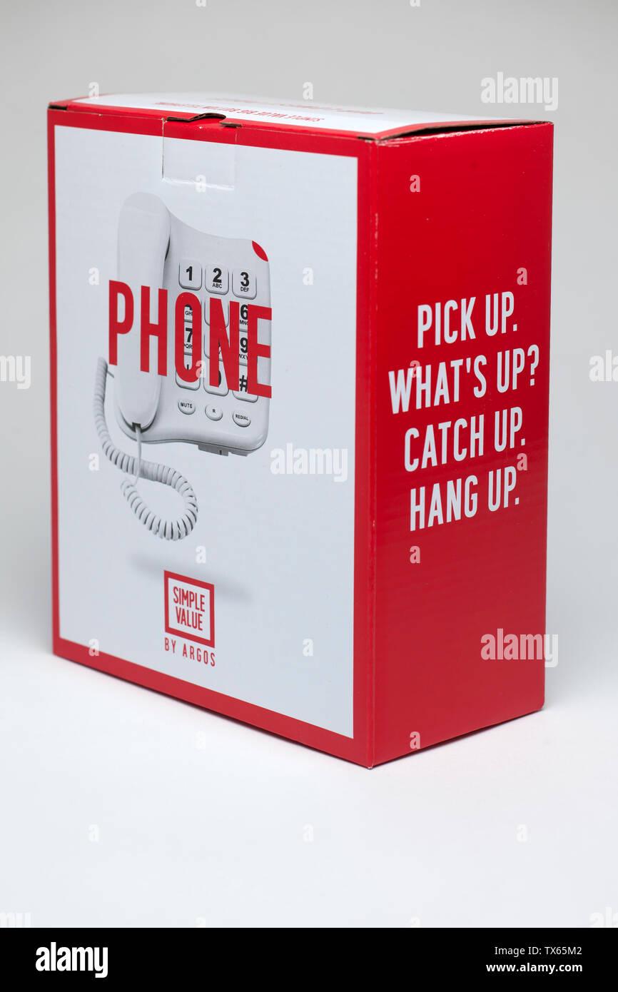 Value Wired landline telephone from Argos - Stock Image