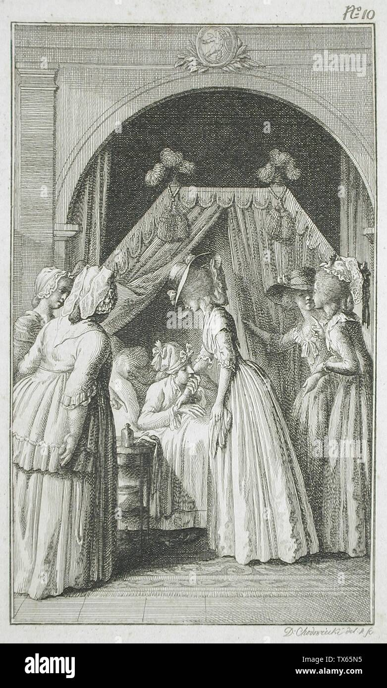 """""""Illustration for Richardson's 'Clarissa'; English:  Germany, 1785 Plate: Plate 10 Prints; etchings Etching Gift of Vergil Whirlow (55.103.176) Prints and Drawings; 1785date QS:P571,+1785-00-00T00:00:00Z/9; """" Stock Photo"""