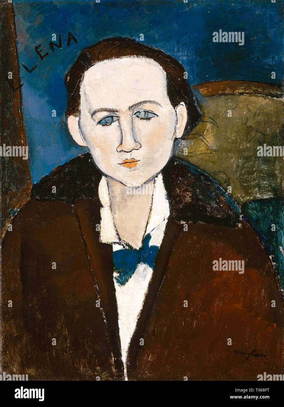 Amedeo Modigliani, Elena Povolozky, portrait painting, 1917 - Stock Image