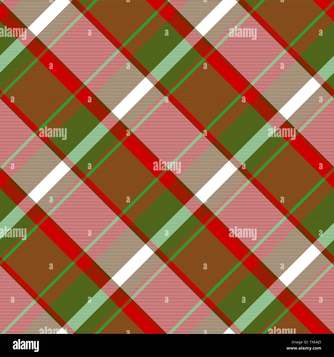 Color plaid fabric texture seamless pattern. Vector illustration. - Stock Vector