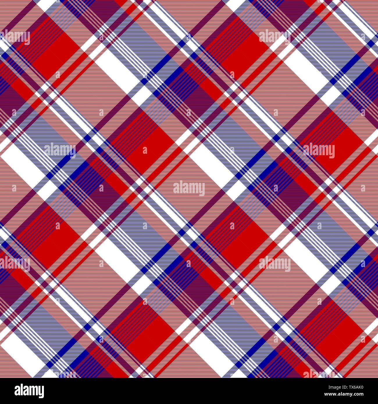 Diagonal pattern seamless fabric texture. Vector illustration. - Stock Vector