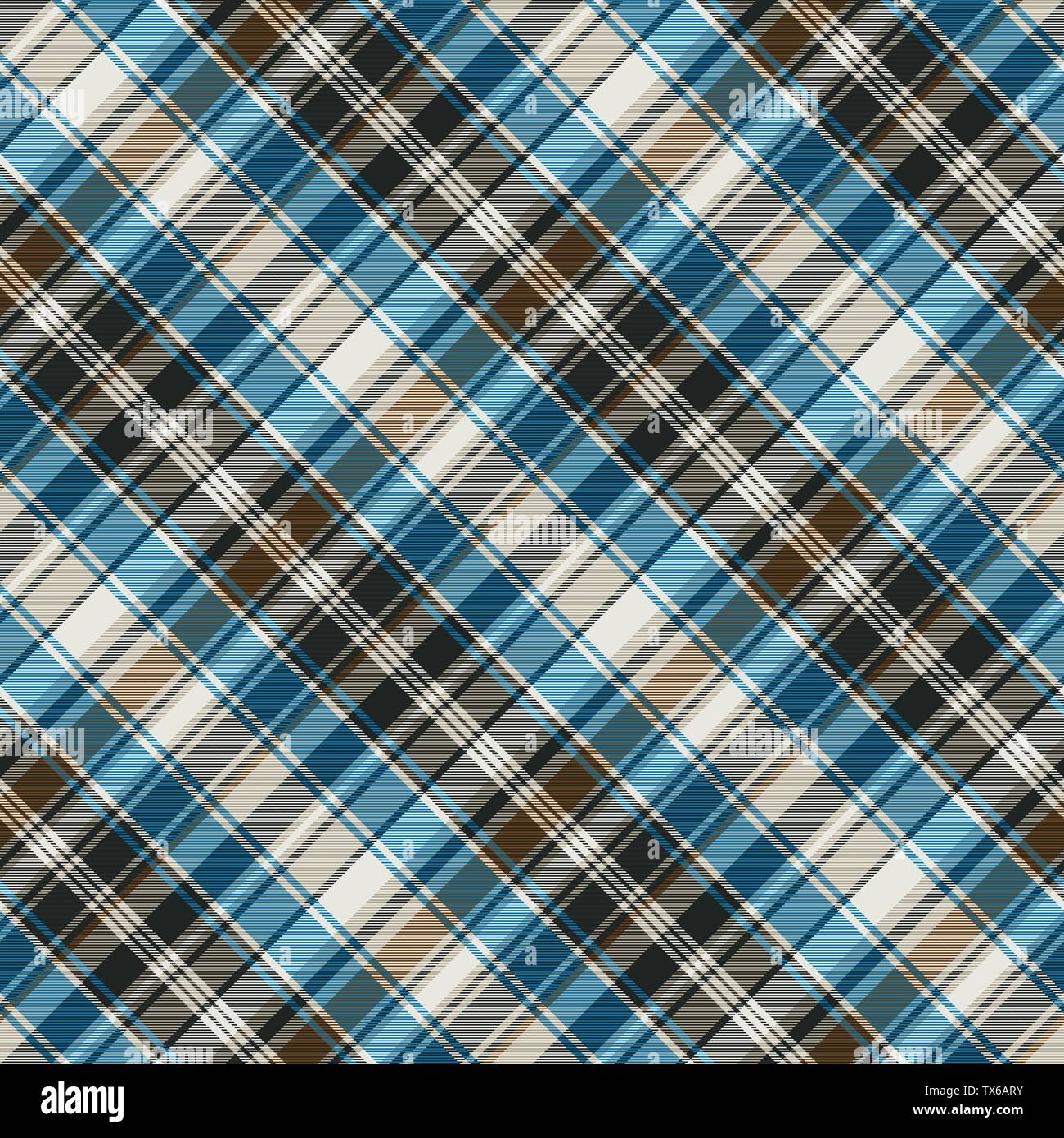 Striped check plaid seamless pattern. Vector illustration. - Stock Vector