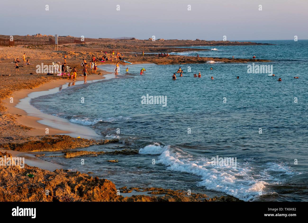 Venus beach, Paphos, Cyprus - Stock Image