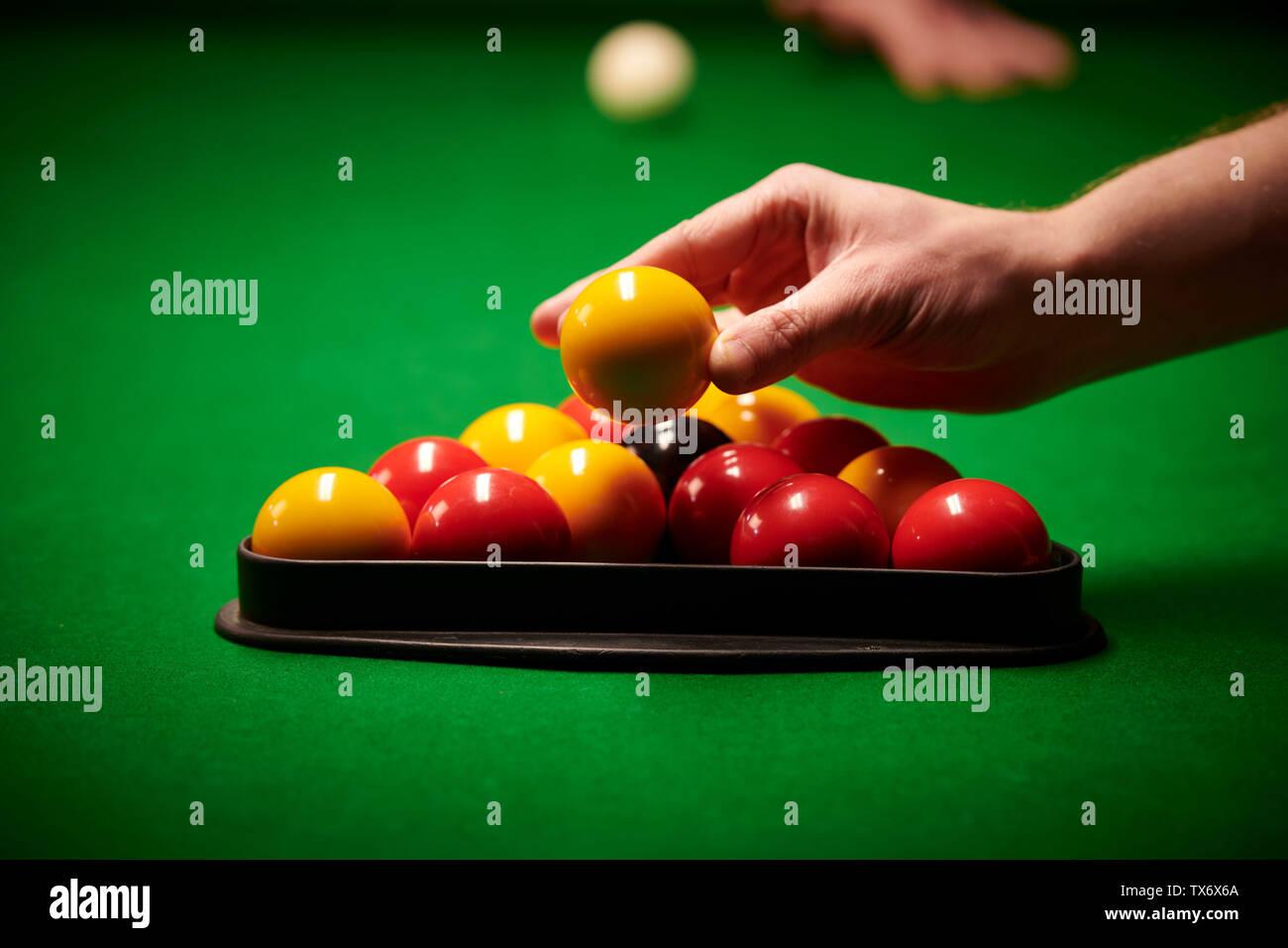 rack them up pool - Stock Image